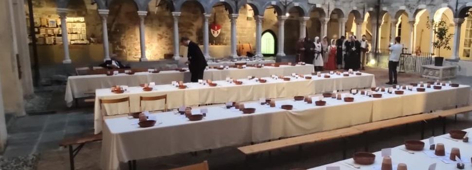 Allestimento cena medievale